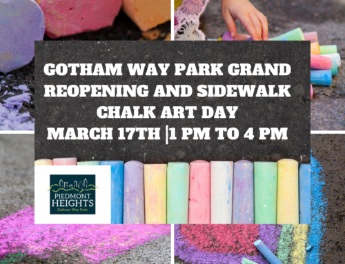 Gotham Way Park Grand ReOpening and Sidewalk Chalk Art Day – 3/17/19